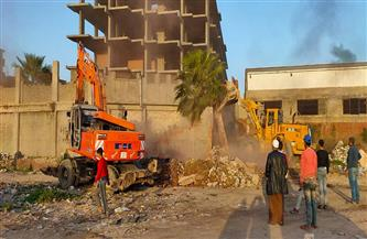حملة موسعة لإزالة التعديات علي أراضي أملاك الدولة بالإسكندرية | صور