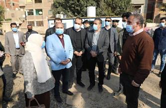محافظ المنوفية يتفقد أعمال رصف عدد من الشوارع  ببركة السبع| صور