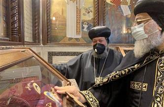 افتتاح مزار الشهداء وإزاحة الستار عن اللوحة التذكارية بكنيسة المنشية| صور