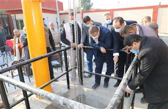 محافظ المنوفية يتفقد الأعمال بمحطة الصرف بقرية شطانوف في أشمون | صور