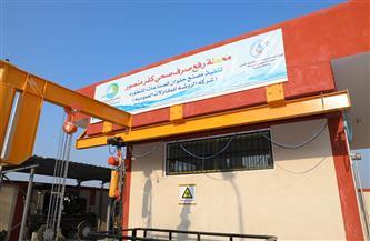محافظ المنوفية يشهد التشغيل التجريبي لمشروع صرف صحي كفر منصور بأشمون | صور