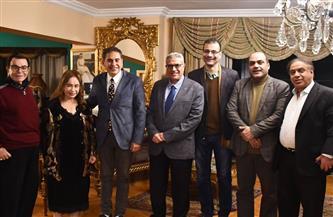 أمسية ثقافية بمناسبة مرور 100 عام على بدء بث الإذاعة المصرية  صور