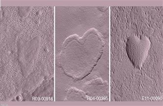 الكوكب الأحمر يحتفل بعيد الحب.. قلوب على المريخ | صور