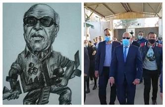 محافظ بورسعيد يتقدم المشيعين في جنازة البدري فرغلي | صور