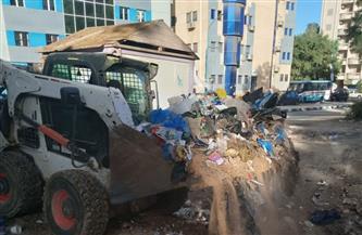 رفع 450 طن قمامة من الأحياء السكنية والتجارية وإنارة المدخل الشرقي بمرسى مطروح | صور
