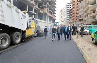 محافظ المنوفية يتابع أعمال الرصف بشبين الكوم | صور