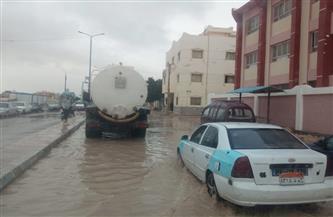 مدينة مرسى مطروح: رفع تجمعات مياه الأمطار بعلم الروم والطريق الدولي| صور