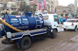 المحلة الكبرى تنشر معدات رفع المياه في الشوارع والأنفاق لمواجهة سوء الطقس والأمطار  صور