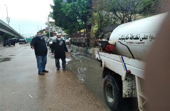 محافظ البحيرة يتابع جهود سحب مياه الأمطار من الشوارع | صور