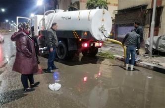 محافظ بورسعيد: رفع كميات المياه الناتجة عن سقوط الأمطار  صور