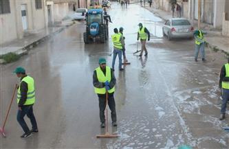 حملات تطهير في حي الخليفة بالتعاون مع إدارات البيئة والطب الوقائي ومكافحة العدوى