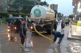 انتشار سيارات رفع المياه في شوارع الدقهلية واستمرار موجة الطقس السيئ  صور