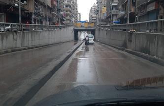 تجدد هطول الأمطار الغزيرة على أنحاء متفرقة من الإسكندرية| صور