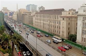 أمطار تغرق شوارع القاهرة وبطء في حركة السيارات أعلى كوبري أكتوبر| صور