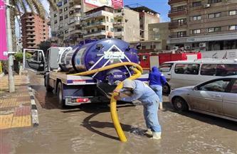 القابضة للمياه: استمرار رفع حالة الطوارئ للتعامل مع الأمطار | صور