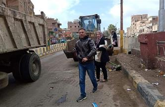 رفع 244 طن قمامة من قرى مركز شبين الكوم بالمنوفية | صور