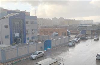 هطول أمطار غزيرة على مناطق متفرقة في بورسعيد | صور