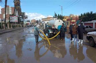 تواصل عمليات شفط تجمعات مياه الأمطار بالمنوفية | صور