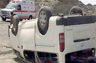 إصابة 5 مواطنين فى انقلاب ميكروباص على صحراوى البحيرة