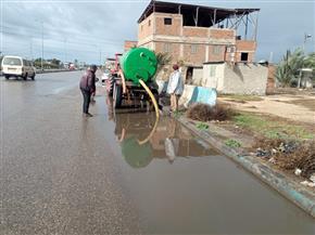 سقوط أمطار متوسطة على محافظة دمياط| صور