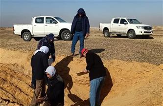 وزير الزراعة يُشيد بالفريق البحثي بصحراء غرب السويس في ظل الطقس السيئ | صور