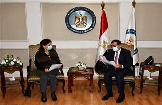 جلسة مباحثات ثنائية بين وزير البترول ونظيرته الأردنية لبحث التعاون المشترك