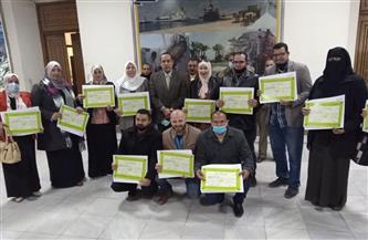 محافظ شمال سيناء يتفقد الإنشاءات في دار الأيتام بالعريش ويكرم حفظة القرآن الكريم | صور