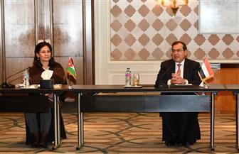 وزير البترول ونظيرته الأردنية يجتمعان لاستعراض الموقف التنفيذى للمشروعات المشتركة |صور