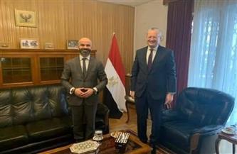 سفير مصر في وارسو يبحث سبل التعاون مع رئيس المنطقة الاقتصادية بإقليم كاتوفيتسا البولندي