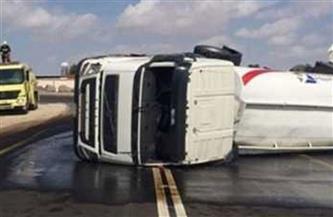 إصابة 6 أشخاص في انقلاب سيارة مواد بترولية فى إحدى ترع الغربية