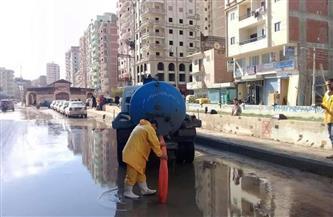 مياه القليوبية: الدفع بمعدات لرفع مياه الأمطار من الطريق الزراعي والأنفاق