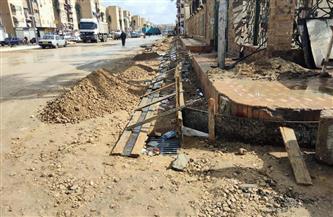 محافظ بورسعيد: استكمال أعمال رصف وتطوير شارع عبد الرحمن شكرى ومنطقة ٥٨ عمارة بالضواحى  صور