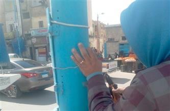 تركيب 500 غطاء لأعمدة الإنارة بمدينة مرسى مطروح حفاظًا على أرواح المواطنين|صور