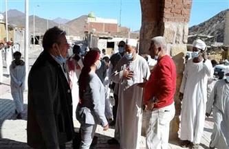 نائب محافظ البحر الأحمر تتفقد قرية الشيخ الشاذلي بمرسى علم   صور