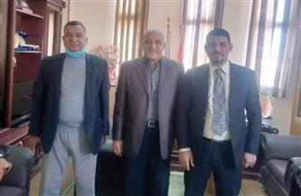 رئيس جامعة أسوان يستقبل وفد الجامعة المصرية