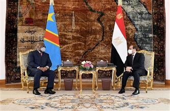 الرئيس السيسي يعرب لنظيره الكونغولي تطلع مصر لمزيد من التعاون بين البلدين لما فيه مصلحة القارة الإفريقية