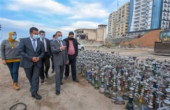 """محافظة الإسكندرية تتخلص من 2700 شيشة تحفظت عليها حملات """"السياحة والمصايف""""  صور"""