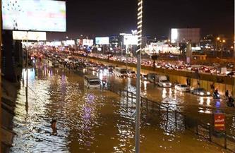 كثافات مرورية أعلى محور 26 يوليو بسبب كسر ماسورة مياه