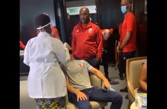 مسحة طبية للاعبي الأهلي قبل مواجهة سيمبا التنزاني