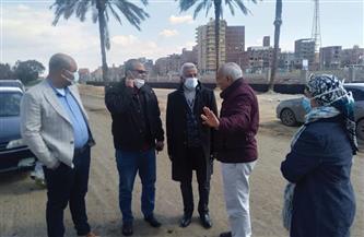 رئيس مدينة المحلة يوجه بسرعة الانتهاء من أعمال تطوير كورنيش بحر شبين | صور