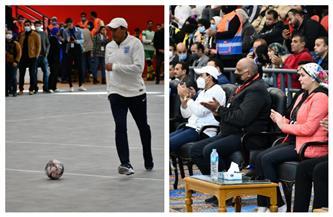 وزير الرياضة يشارك في مباراة استعراضية بالمهرجان المتكامل لاتحاد مراكز شباب مصر