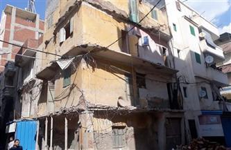 مصرع شخصين في انهيار جزئي بعقار بمنطقة غربال وسط الإسكندرية