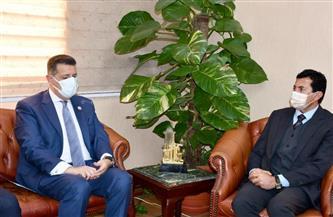 وزير الرياضة يلتقي رئيس لجنة حقوق الإنسان بمجلس النواب