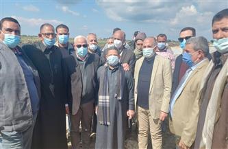 وزير الري ومحافظ بورسعيد يشهدان تنفيذ تبطين ترعة التينة بتكلفة 76 مليون جنيه | صور