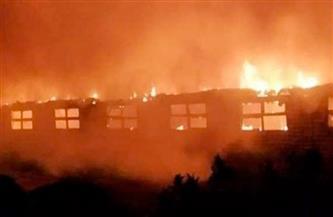 نفوق 6 آلاف دجاجة في حريق مزرعة بمنية النصر