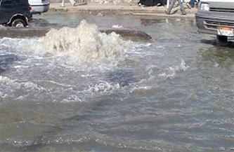 كسر مفاجئ في ماسورة مياه بشارع خالد بن الوليد بالأقصر