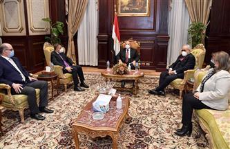 رئيس مجلس الشيوخ يستقبل رئيس جامعة عين شمس