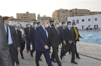 وزير الشباب والرياضة ومحافظ الجيزة يتفقدان نادي حدائق الأهرام | صور