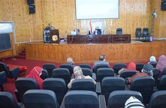 رئيس جامعة سوهاج يشهد دورة تدريبية للهيئة التدريسية عن منصة التعليم الإلكتروني | صور