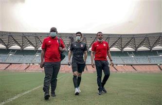 «موسيماني» وأيمن أشرف يتفقدان ملعب مواجهة سيمبا